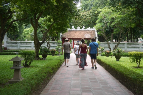 walking in temple of literature